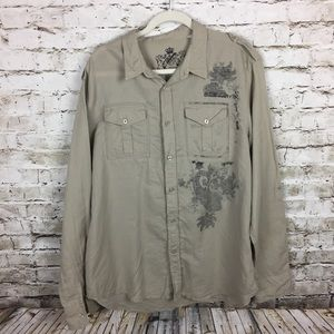 Guess khaki work shirt